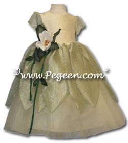 Princess & the Frog Silk and Tulle flower girl dress