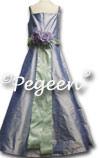 Junior Bridesmaids Silk Dress with Spagetti Straps #423