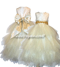 Tulle Pearls Flower Girl Dress