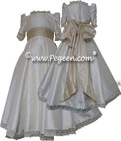 the Empress Matilde, a royal wedding flower girl dress