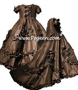 Queen Mary Tudor Flower Girl Dress from the Regal Collection by Pegeen