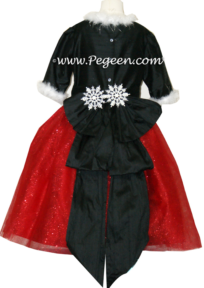 Red and Black Sparkle nutcracker, Clara or Christmas Holiday Flower Girl Dresses | Pegeen