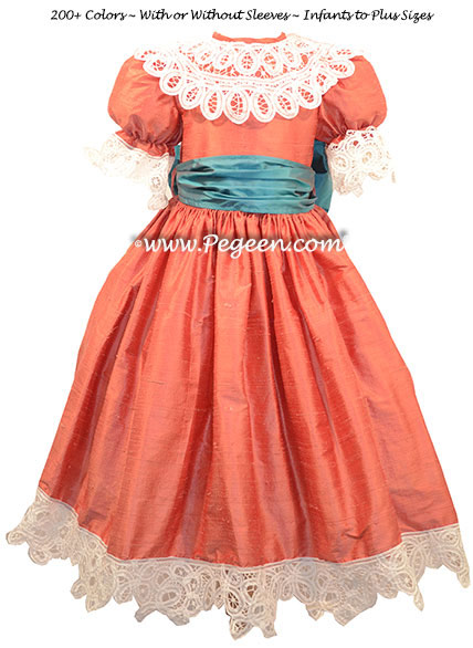 Nutcracker Battenburg Taffeta Dress by Pegeen