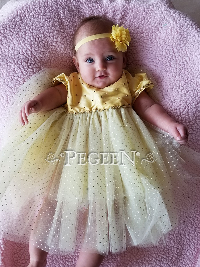 Infant Beauty and the Beast Belle Ballroom Tulle Dress