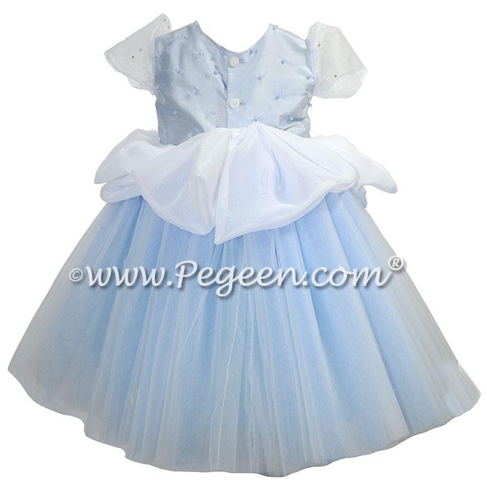 Cinderella Princess inspired silk flower girl dress