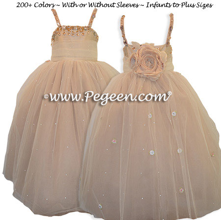 Topaz Fairy Flower Girl Dress 904
