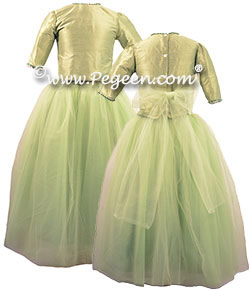 Beaded 2pc Tulle Jr Bridesmaids Dress Style 931