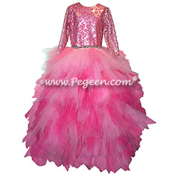 Jr Bridesmaid Hankerchief Tulle Dress