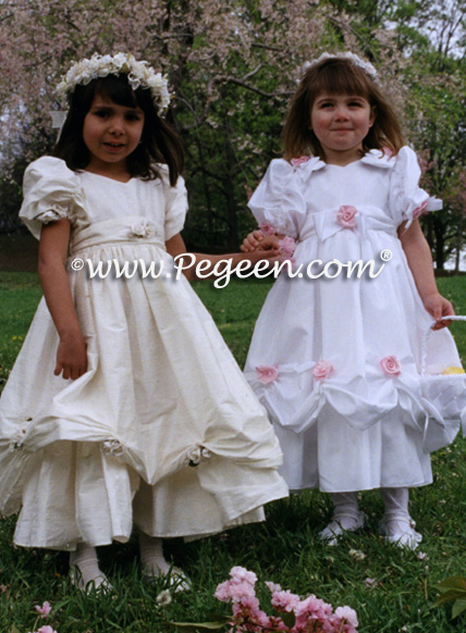 Flower girl dress or white First Communion Dress Style 969 from the Heavenly Collection by Pegeen