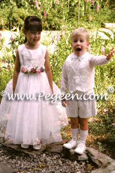 matching flower girl dress and ring bearer