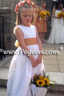 424e1ba905 Flower girl dresses in grapefruit. Shown Style 383