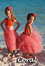 Coral Featured Flower Girl Dresses and Weddings