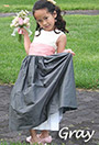 Gray Flower Girl Dresses