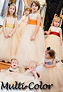 Flower girl dresses in multi-colors
