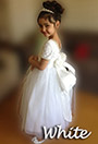 White Communion and Flower Girl Dresses