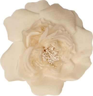 Optional Tami Flower Shown in Ivory