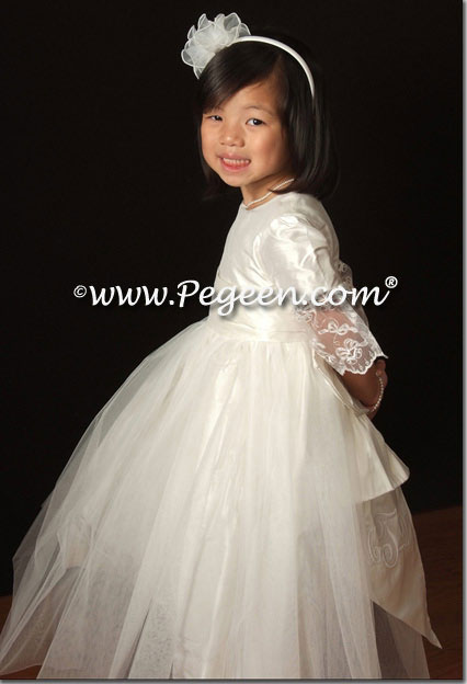 Monogrammed Silk First Communion Dress Pegeen Style 694
