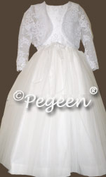 Communion Dress 411 Aloncon lace and Bolero jacket