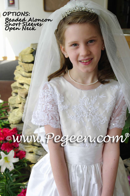 Communion Dresses Pearls Sequins and Silk Pegeen Style 630