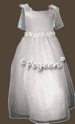 Communion Dresses in White Bridal Satin
