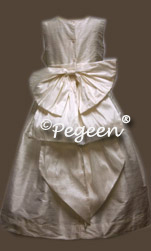 White Silk Communion Dresses