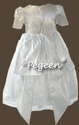 Communion Dresses with silk flowers
