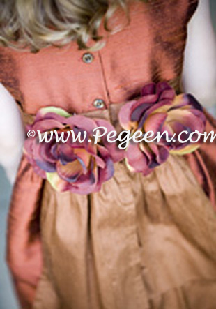 ginger and mountain fall  flower girl dresses