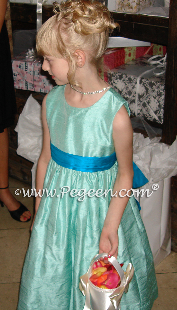 tiffany flower girl dresses