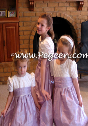 Purple lilac jr bridesmaids dress