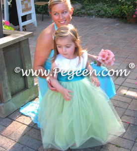 MAtching Coren Moore Flower girl dresses