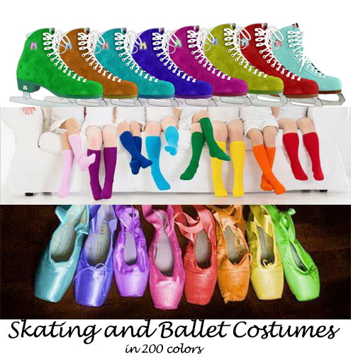 Ballet and Skating costumes customized by Pegeen.com
