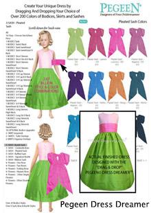 Create a custom flower girl dress in our Pegeen Dress Dreamer