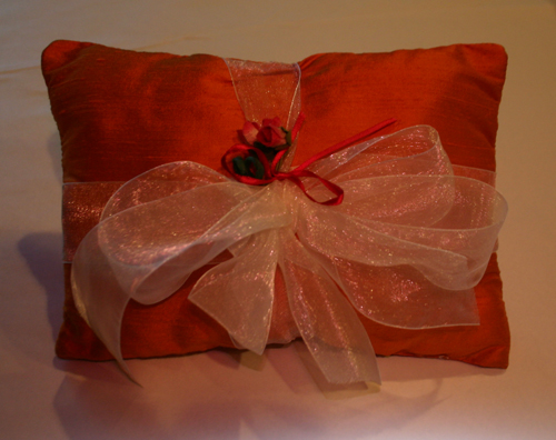 Silk Ring Bearer Pillow | Pegeen