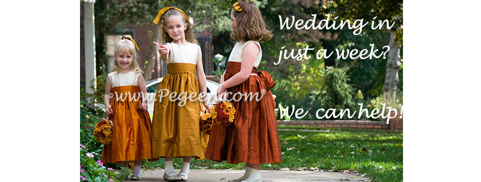 Flower girl dresses in a rush