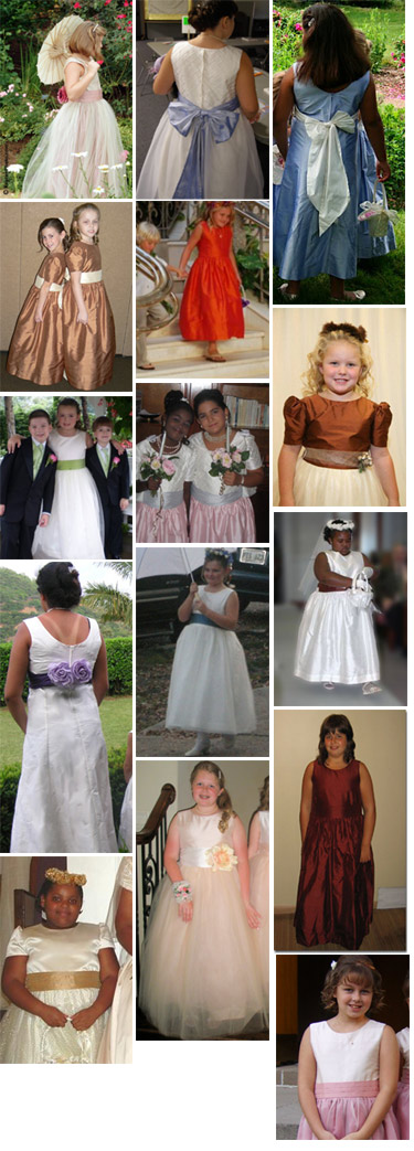 Special fit and plus size flower girl dresses by Pegeen