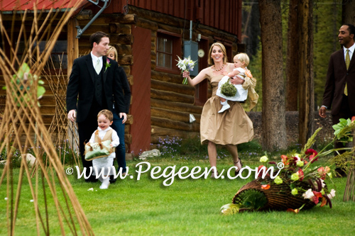 Ring Bearer Suit and Matching Flower girl dresses