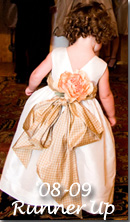 2009 Flower Girl Dresses of the Year Runner Up in Gold and Ivory