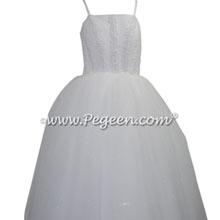 White cotillion dress for Junior Style 1202