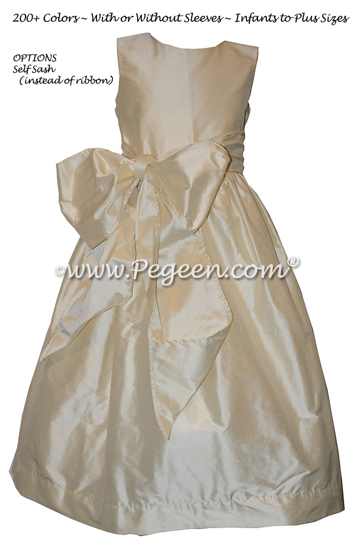 Bisque flower girl dress on sale
