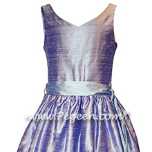 Lilac and Wisteria Silk Jr. Bridesmaids dress Style 302 | Pegeen