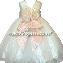 Ballet Pink Silk flower girl dresses