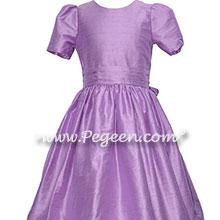 Amethyst (purple) custom silk flower girl dress style 318