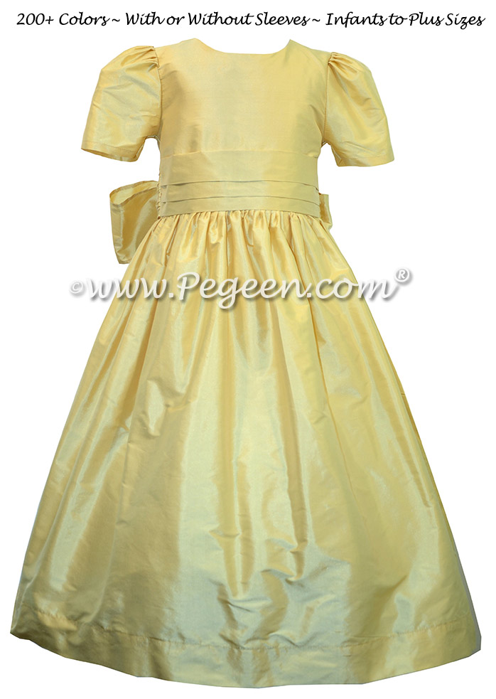 Dandelion Yellow Silk flower girl dresses - Style 318