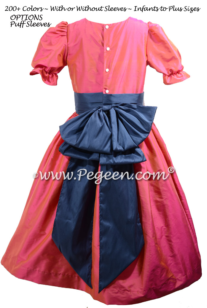 Sorbet Pink and Navy Nutcracker Dress for Nutcracker on Ice