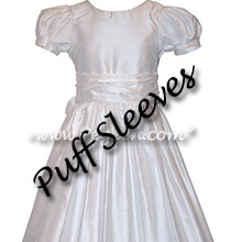 White silk First Communion Dress - Special Fit Style 388