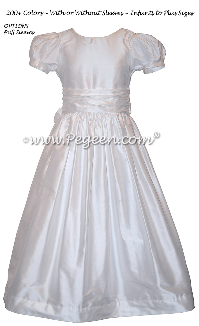 White first communion flower girl dress on sale