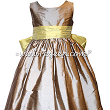 Wolf Gray and Sunshine Yellow Summer-Styled Flower Girl Dress