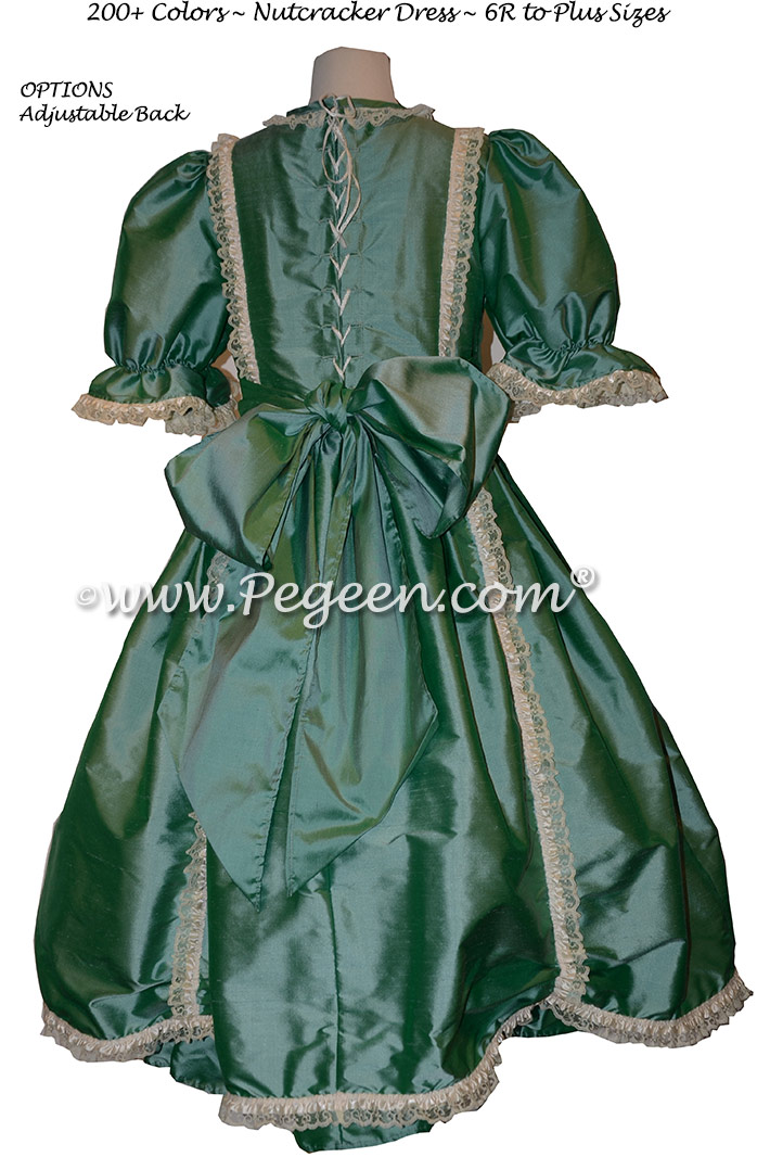 Blue Green Victorian Styled - Silk Clara Costume and Party Scene dresses