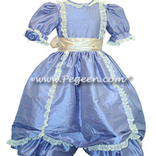 Periwinkle Victorian Styled - Silk flower girl dresses