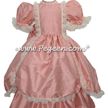 Rum pink victorian style flower girl dress
